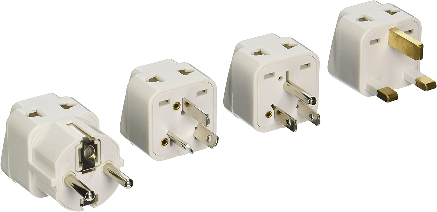 CKITZE BA-4P Universal to Worldwide Travel 2-in-1 Plug Adapter Kit