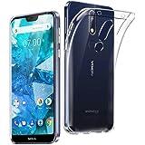 AVIDET Nokia 7.1 保护套,透明水晶软薄防划保护套Nokia 7.1(透明)