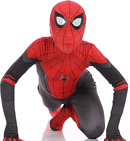 Kids Spider-Man Far From Home Super Hero Halloween Cosplay Costume Outfit Suit