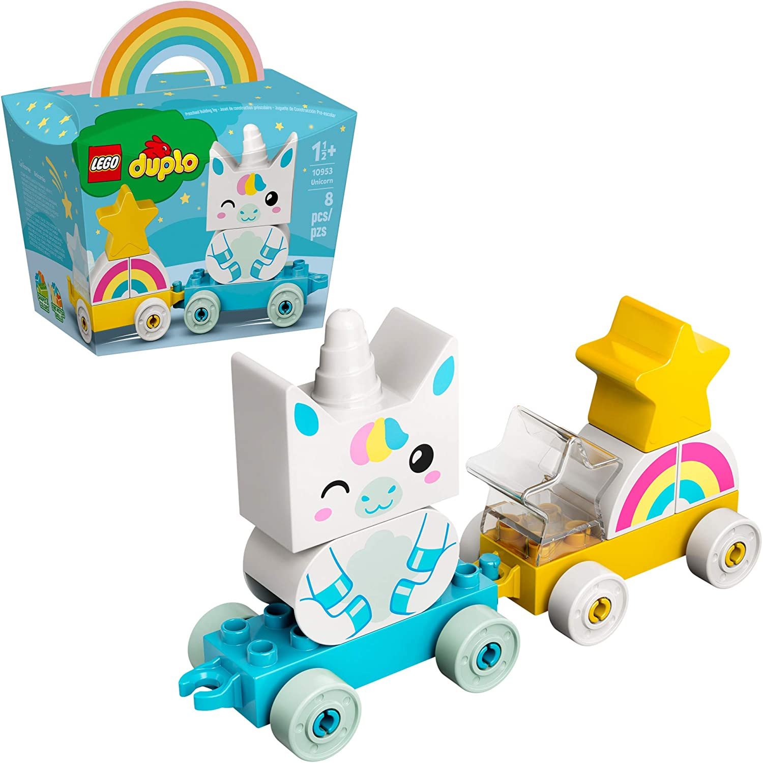 LEGO DUPLO My First Unicorn 10953 Pull-Along Unicorn for Young Kids; Great Toy for Imaginative Learning Through Play, New 2021 (8 Pieces)