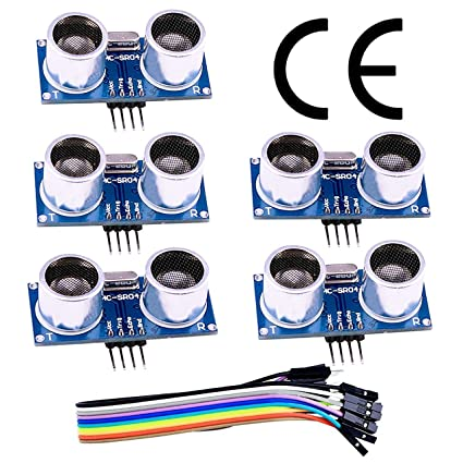 Amazon com: HC-SR04 Ultrasonic Sensor Distance Module (5pcs) for