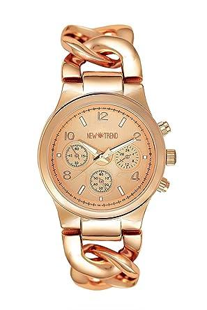 Rotgold schmuck damen  Fashion Damenuhr Farbe Roségold Uhr Edelstahl Armbanduhr ...