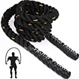 Heavy Jump Ropes for Fitness 3LB, Weighted Adult Skipping Rope Exercise Battle Ropes for Men & Women, Total Body…