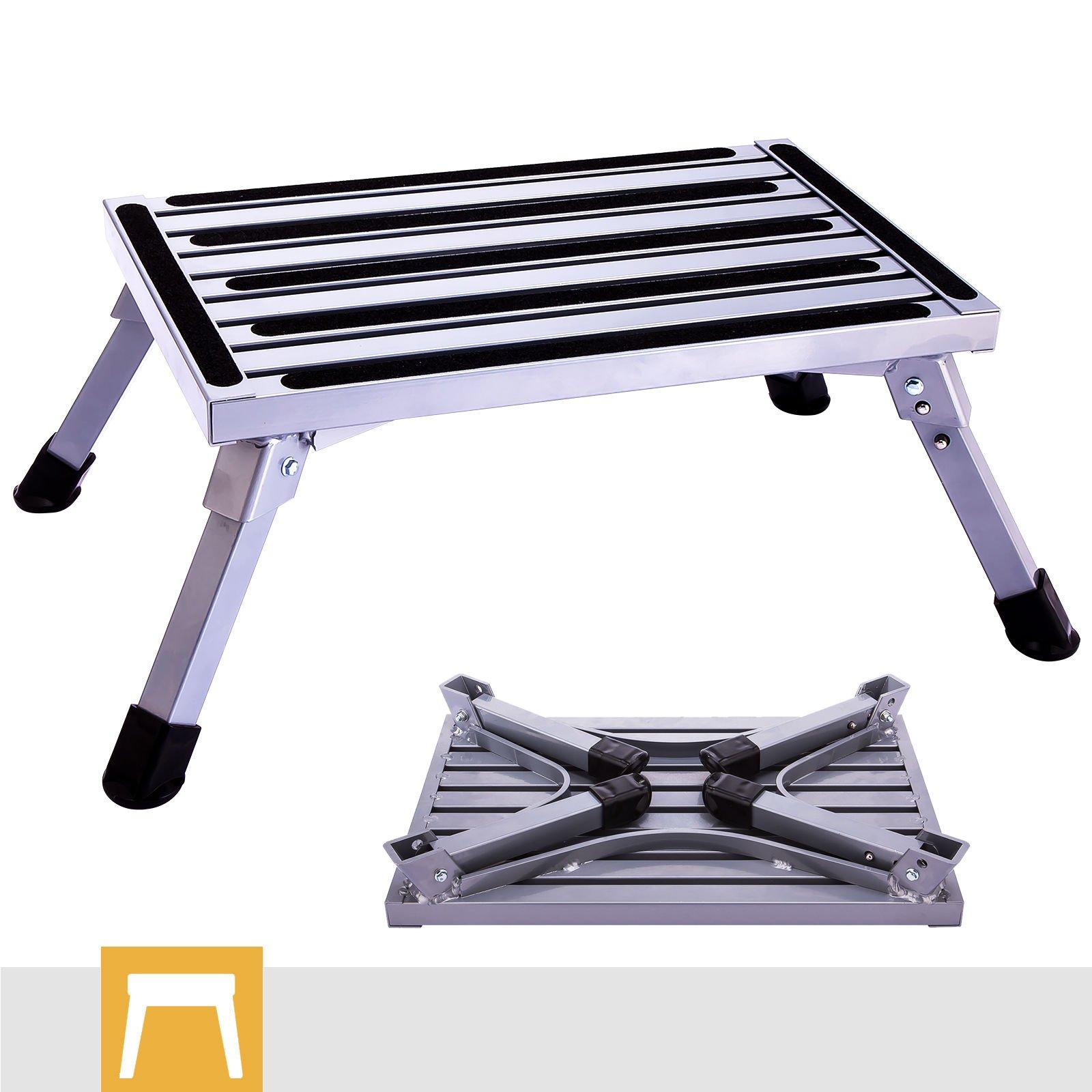 Good concept Step Stool Folding Aluminum Rv Platform Ladder Lightweight Metal Slip Portable