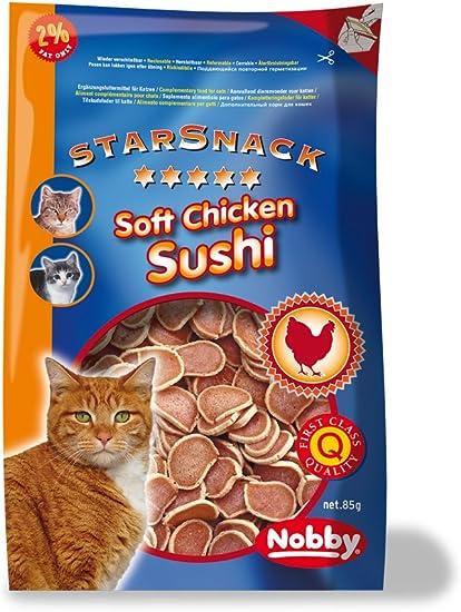 Nobby Star Snack Soft Chicken Sushi (Pack de 8, 8 x 85 g): Amazon ...