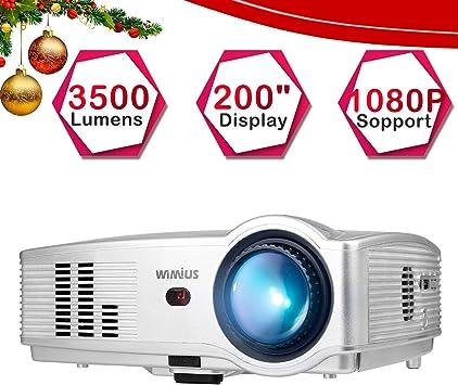 Proyector, WiMiUS Video Proyectores 3500 Lúmenes Soporta Full HD ...