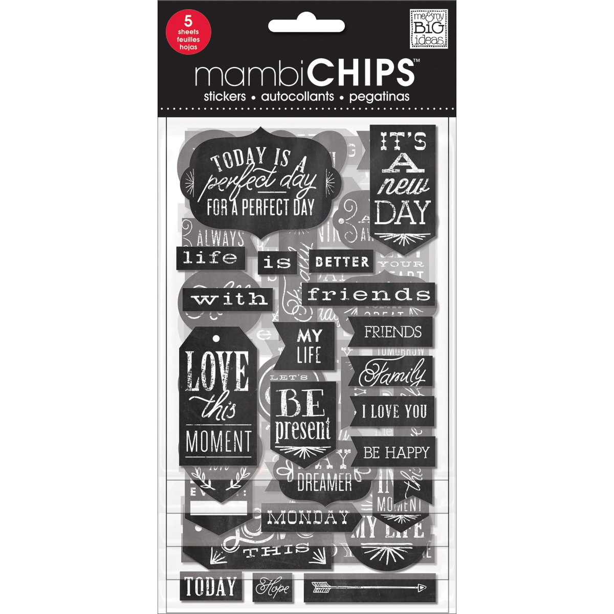 me & my BIG ideas Mambi Chips It's a New Day Scrapbooking Supplies Me and My Big Ideas CBVP-96