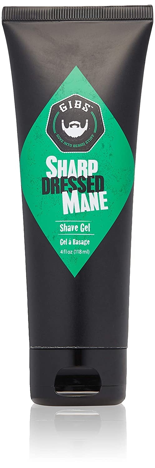 Gibs Sharp Dressed Mane Shave Gel, 4 Ounce, 4oz GIBS Grooming