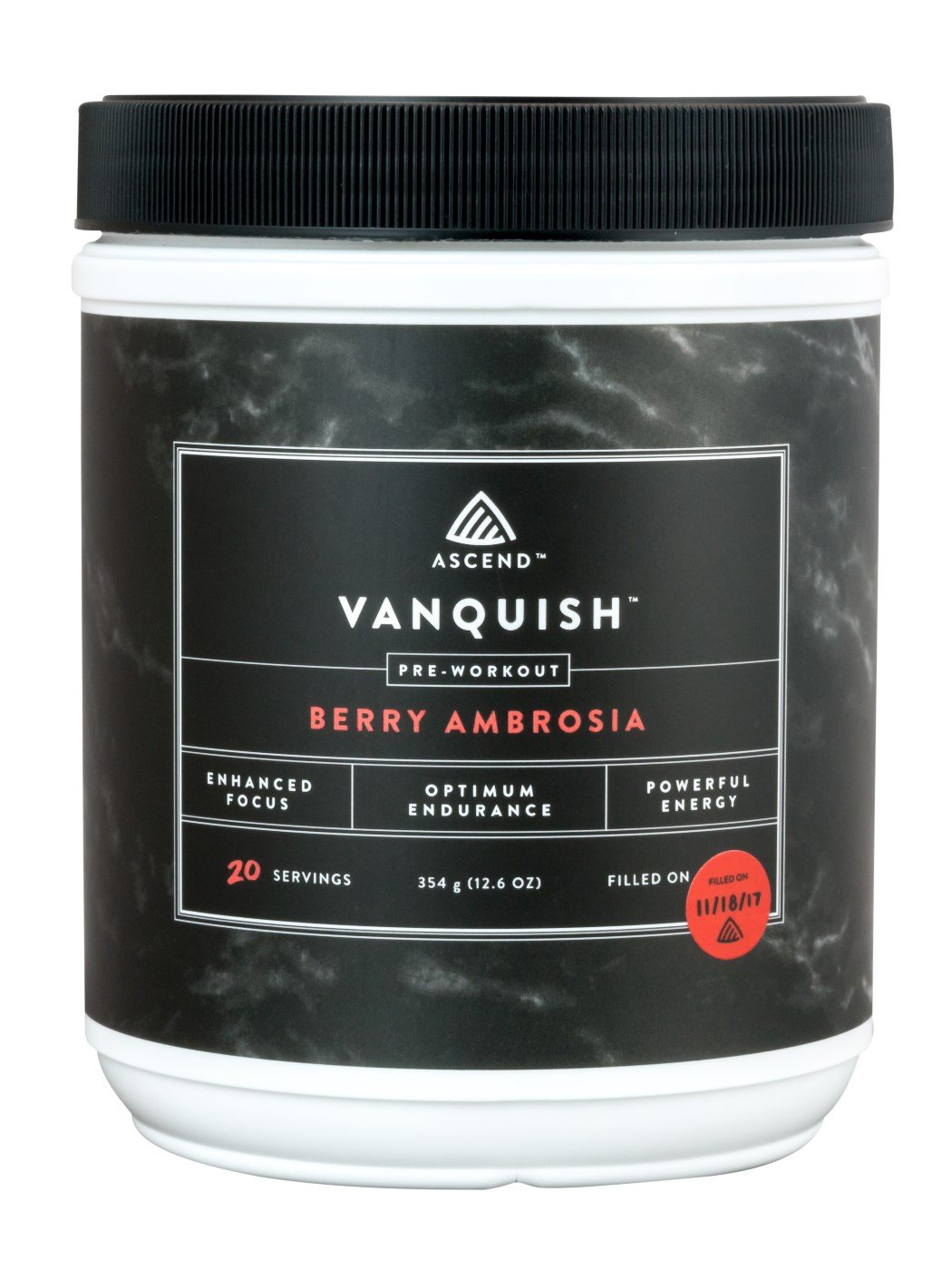 Ascend Vanquish Pre Workout Supplement - All Natural & Safe Energy/Nitric Oxide Preworkout Drink for Focus, Endurance & Strength During Workout. No Artificial Flavors, Sweeteners or Colors.