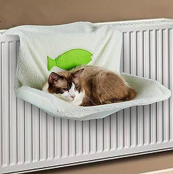 Cama Radiador peluche casa cesta para gato gris: Amazon.es ...