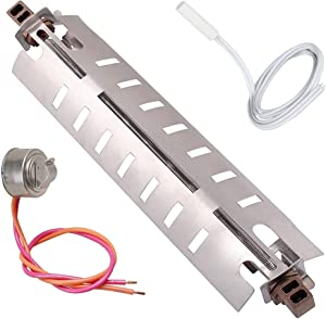 Wr51x10055 Refrigerator Defrost Heater for GE General Electric Hotpoint Kenmore with WR55X10025 Temperature Sensor WR50X10068 Thermostat 725 Watt Replacement Parts Kit