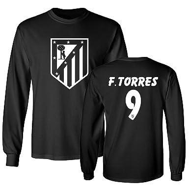 452866fb0 Tcamp Atletico Madid Shirt Fernando Torres #9 Jersey Men's Long Sleeve T- shirt