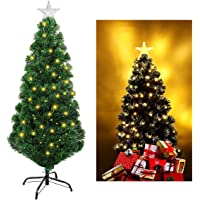 Unomor Christmas Tree with Multi-Color Lights and Tree Star-Evergreen Pine Tree