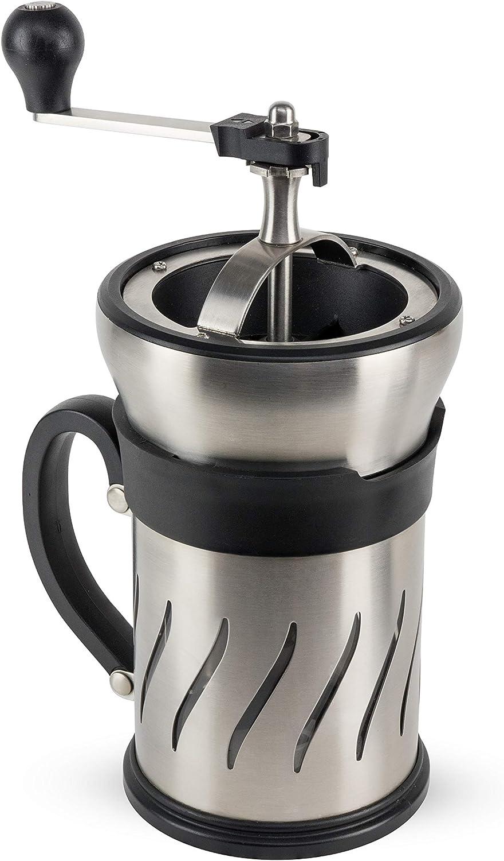 Peugeot Paris Press - Molinillo de café y cafetera en uno, acero inoxidable, plástico, cristal, 1: Amazon.es: Hogar
