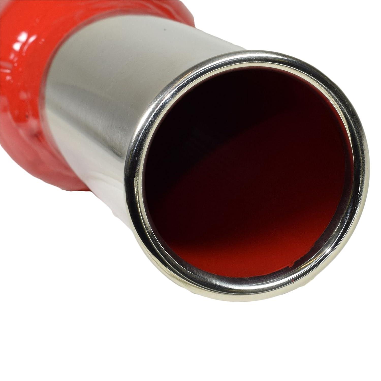 AB Tools Cherry Bomb Standard Bomba di Coda Tubo Tondo di estremit/à della tubazione di Scarico Scatola Posteriore