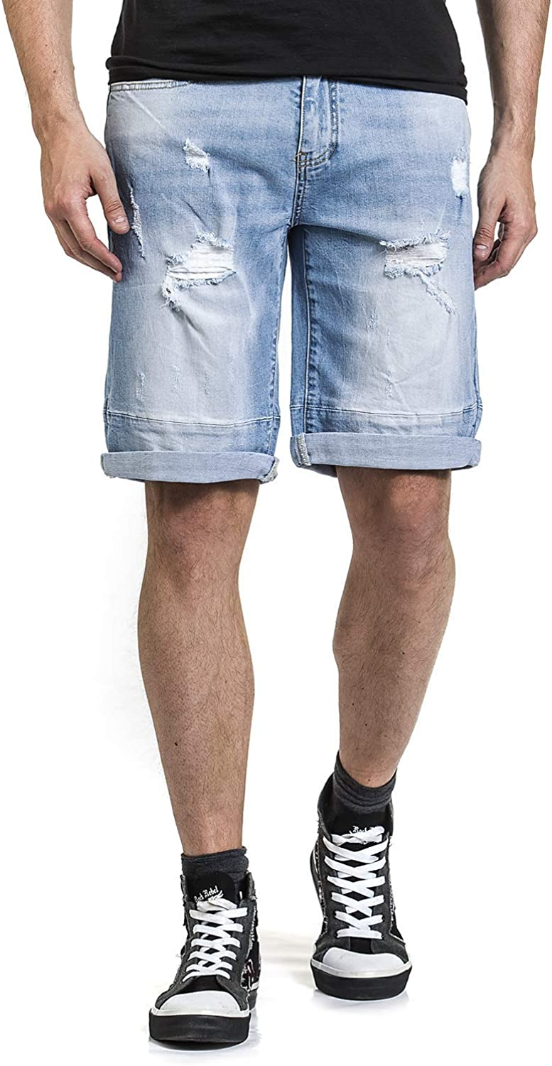 Rock Rebel by EMP All That We are Men Shorts Blue, Blue
