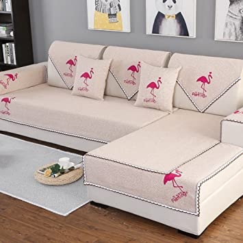AISHUAIGE Slipcovers For Sofas 1/2/3 Seat Cotton Woven ...