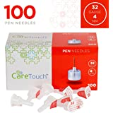 Care Touch Insulin Pen Needles 32 Gauge, 5/32 Inches, 4mm - 100 Pen Needles