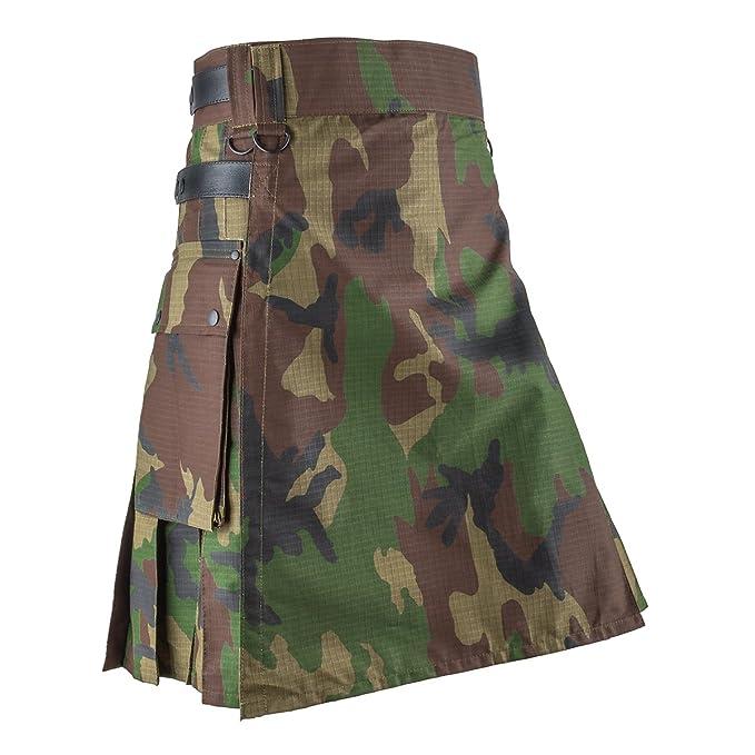 8e7685895 Falda escocesa de camuflaje para hombre