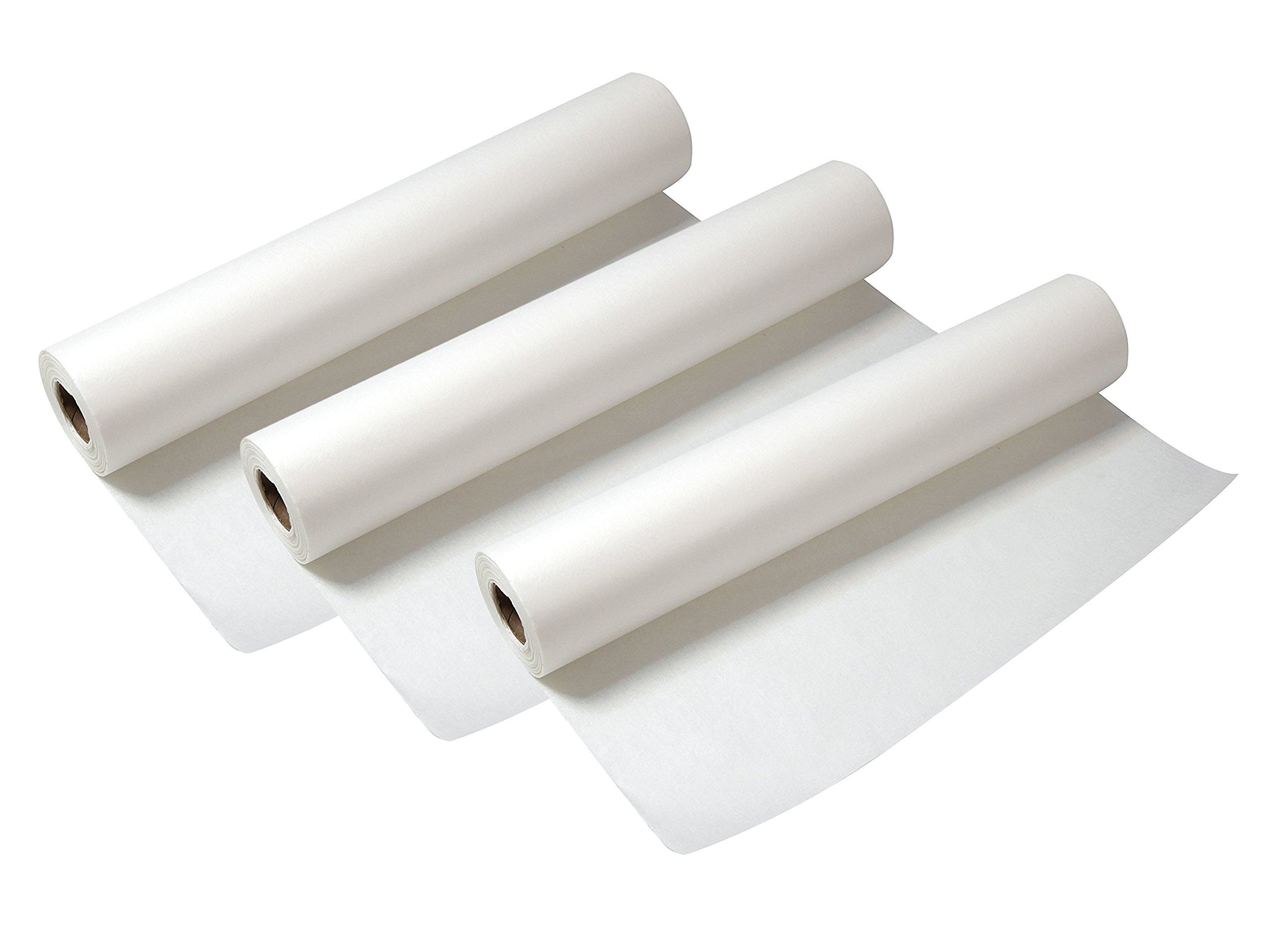 Set of 3 Alvin Lightweight White 18'' x 20 Yards Tracing Paper Roll by Alvin