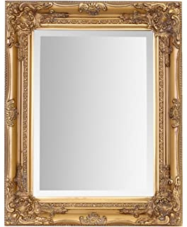 4bbb166f5839 Gold Ornate Wall Mirror  Amazon.co.uk  Kitchen   Home