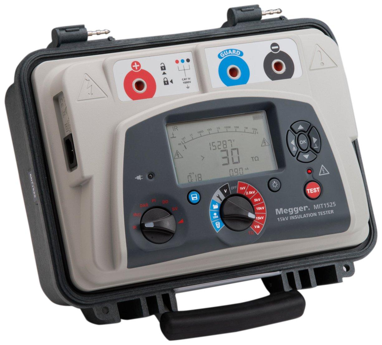 Megger MIT1525-US Megger Insulation Tester 15 kV LCD with Backlight Display