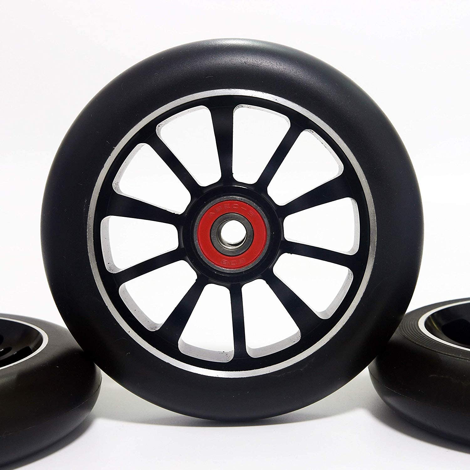 Z-FIRST 1PCS 110mm Pro Stunt Scooter Wheel with ABEC 9 Bearings for MGP/Razor/Lucky/Envy/Vokul Scooter Replacement Wheels