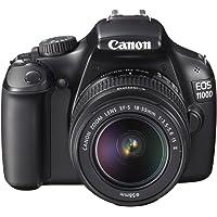 Canon EOS 1100D SLR-Digitalkamera (12 MP, 6,9cm (2,7 Zoll) Display, HD-Ready, Live-View, Kit II inkl. EF-S 18-55mm 1:3,5-5, 6 IS II) schwarz