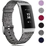 Maledan Compatible with Charge 4/ Charge 3/ Charge 3 SE Bands for Women Men, Soft Woven Fabric Replacement Band…