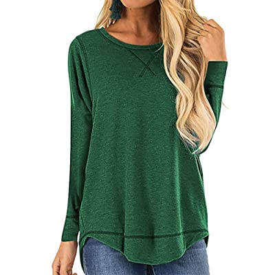 Women's Loose Fit T Shirts Cotton Casual Crew Neck Short Sleeve Tops: Clothing