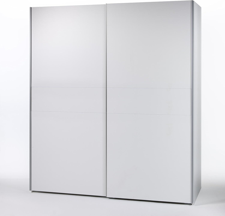 Victor Armario de Puertas correderas 4 Armario Armario Dormitorio/blanco/215 x 210 cm: Amazon.es: Hogar