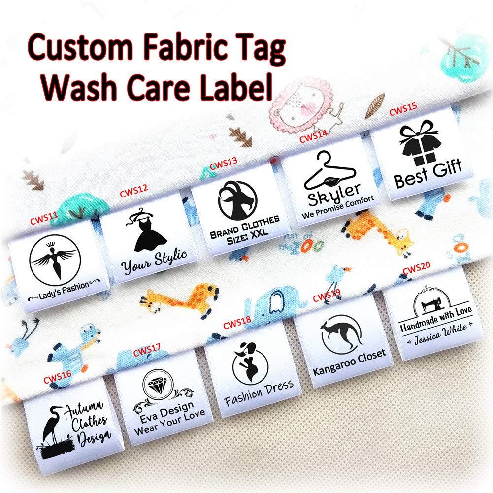 Amazon com: 100pcs Custom Printed Satin Ribbon Fabric Label