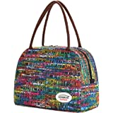 Aosbos Lunch Bag for Women, Insulated Lunch Box, Large Cooler Tote Bags, Meal Prep Lunch Containers (Multicolor Mosaic)