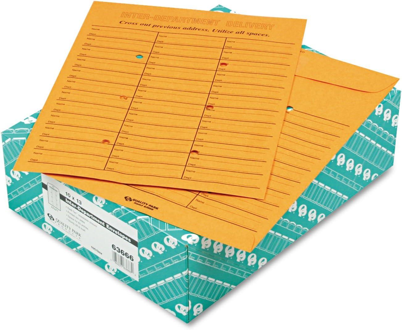 10quot; Width x 13quot; Length Double Sided Inter-Depart. Envelope (100 Envelopes/Box) - BOS-QUA63666