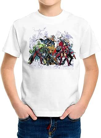 DibuNaif Camiseta Niño - Unisex Superhéroe, Los Vengadores