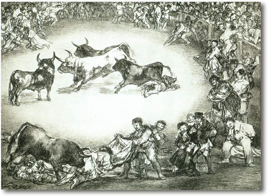 Cuadro Decoratt: Diversion de España - Francisco de Goya 66x48cm ...