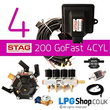 Stag Gf41939 Lpg Autogas 4 Cylinder Conversion Kit