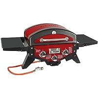 Medison El Fuego Gasgrill XL Rot Gas Barbecue 2 flammig Garten Balkon ✔ Deckel ✔ Seitentische beidseitig ✔ eckig ✔ Grillen mit Gas ✔ für den Tisch
