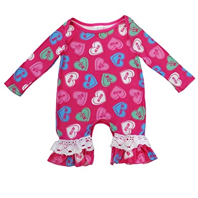 dac188ffcf83 So Sydney Girls Toddler Baby Infant Holiday Long Sleeve Romper Jumpsuit (S  (3-