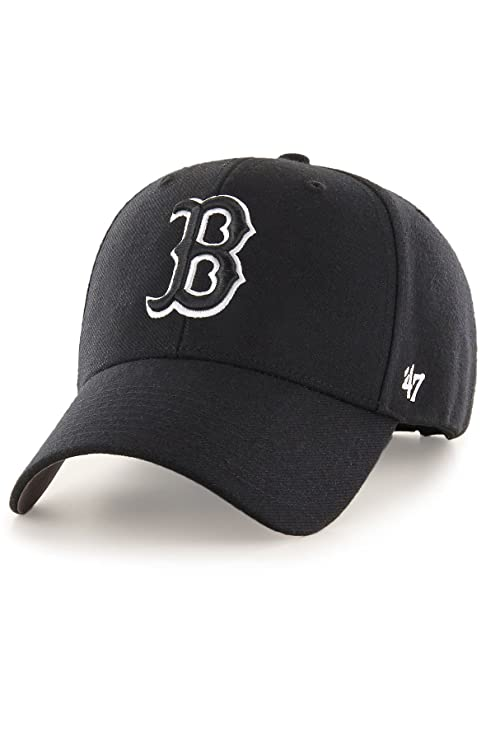 beauty many fashionable official images 47 Brand Boston Red Sox MVP Dad Hat Cap MLB Black/White: Amazon.co ...