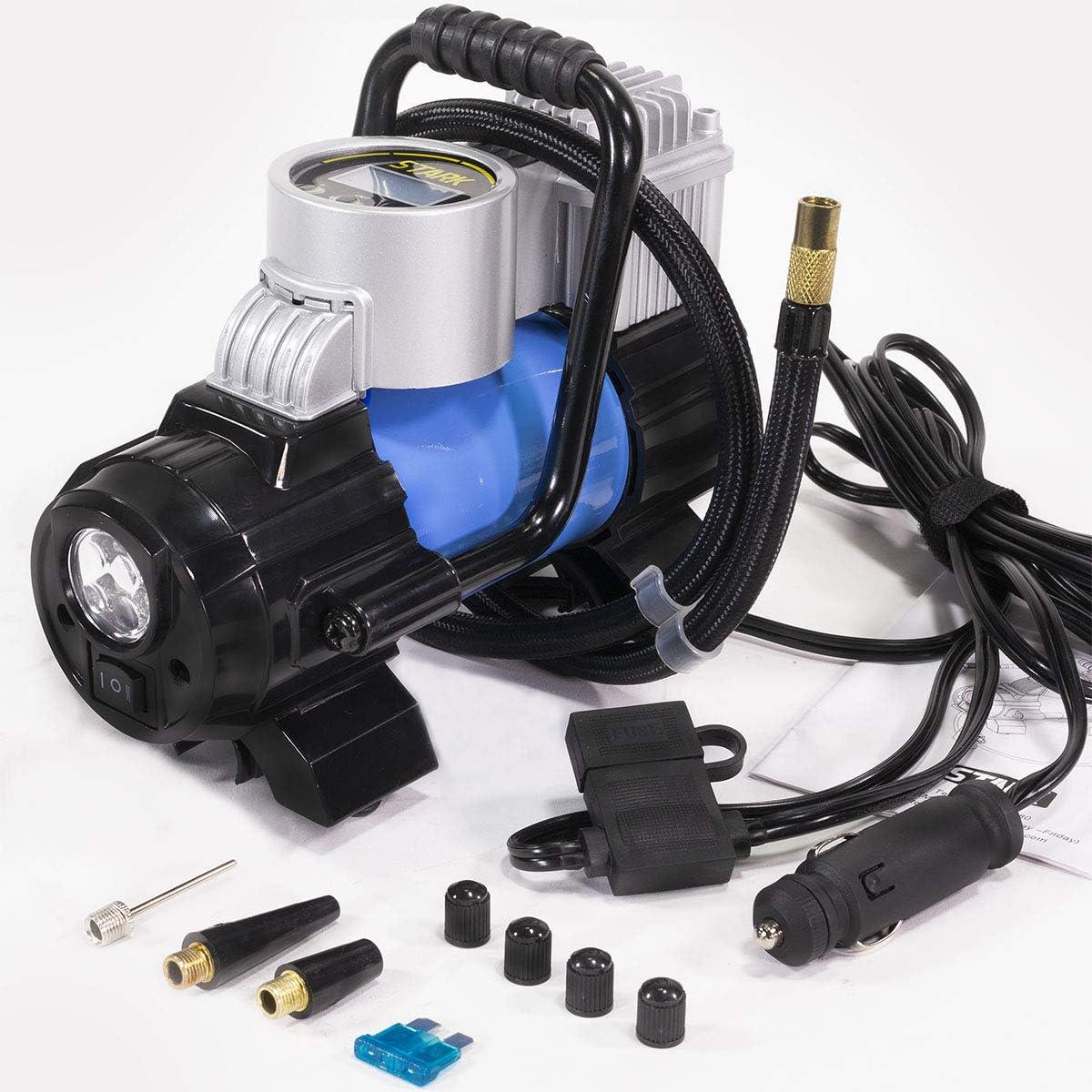 Stark Digital Tire Inflator 12V DC Portable Air Compressor Pump}