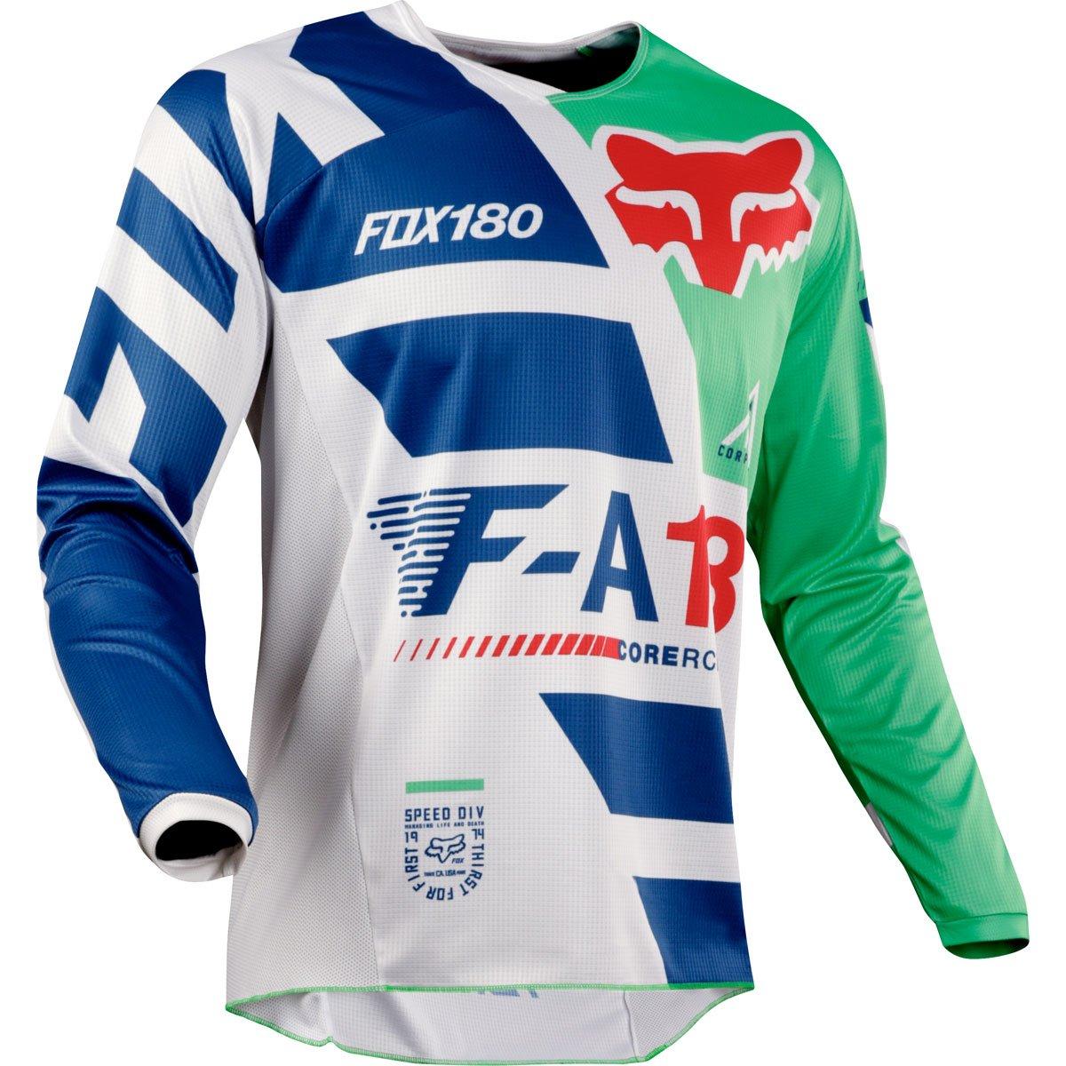 Fox Racing 180 Sayak Youth Boys Off-Road Jersey - Green/Medium