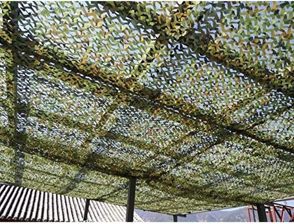 迷彩ネット迷彩ネットメッシュメッシュ軍隊狩猟キャンプ射撃ウッドランド砂漠日焼け止め遮光ネット車のカバー庭パーゴラ釣り屋根の壁の装飾 ZHAOFENGMING (Color : 緑, Size : 6M×10M) 緑 6M×10M