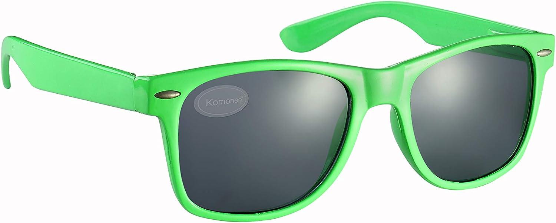 Komonee Gr/ün Drifter Stil Sonnenbrille UV400 Schutz Unisex