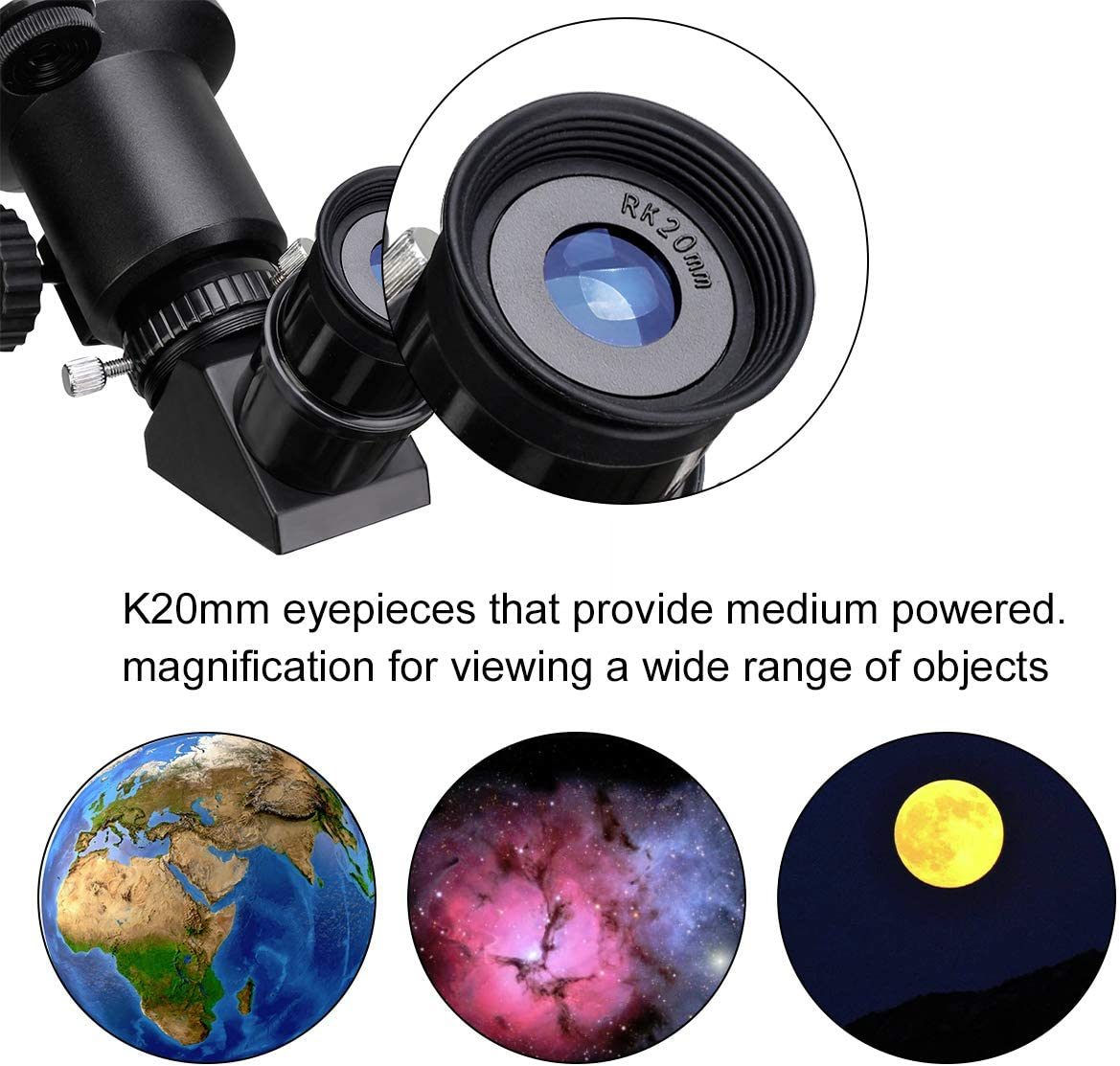 SVBONY SV501 Telescope for Kids Adults Beginners 70mm Fully Coated Travel scope for Astronomy Beginners with Adjustable Tripod and Finder Scope