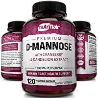 NutriFlair D-Mannose 1200mg, 120 Capsules - with Cranberry and Dandelion Extract...