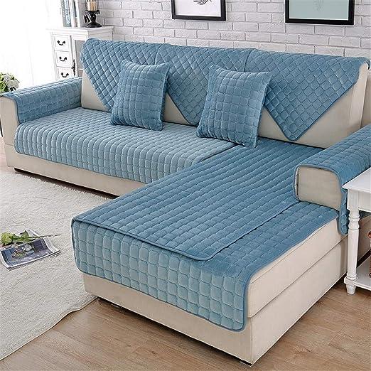 HFYAK - Funda de sofá de felpa de color sólido, multitamaño ...