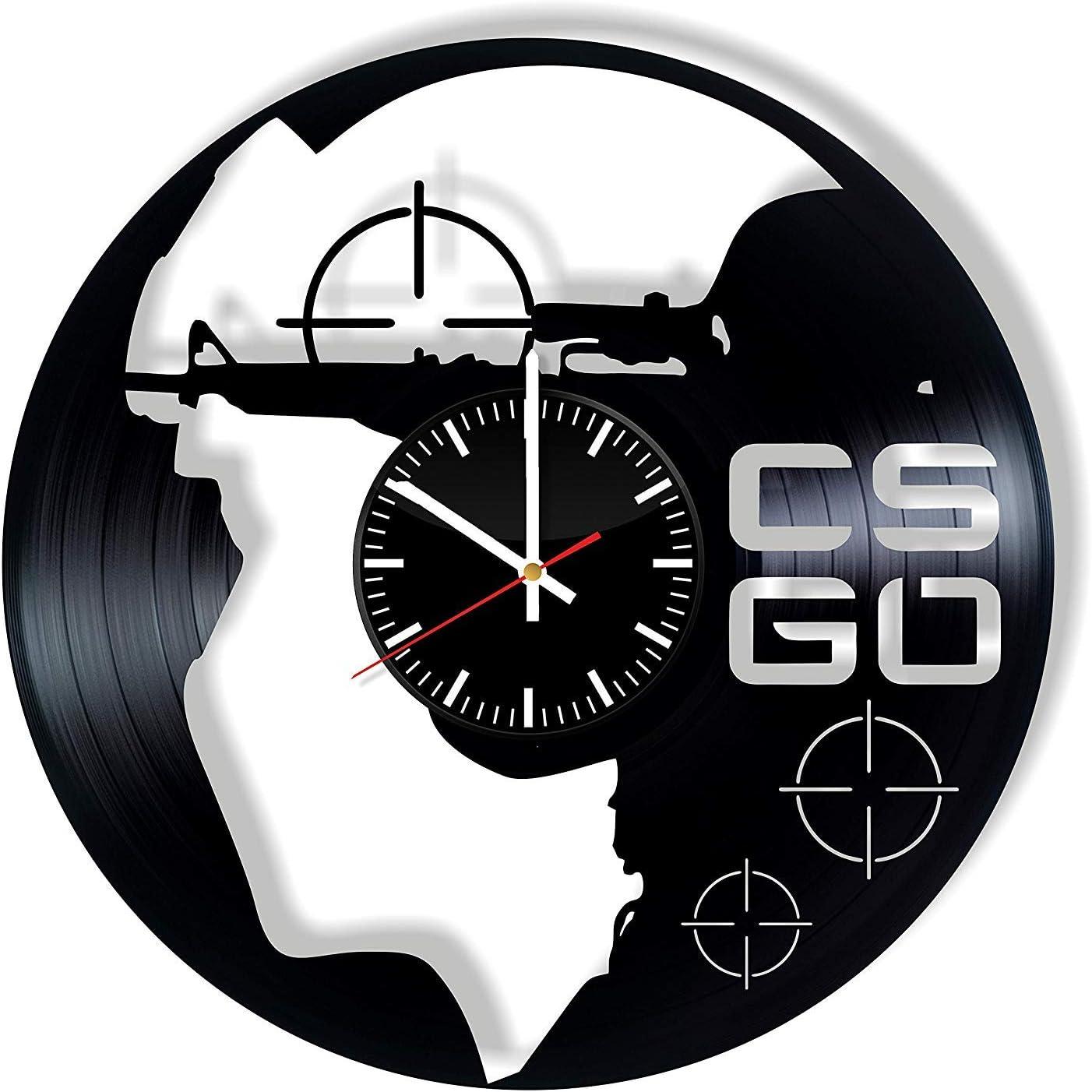 LKCAK CSGO Vinyl Clock - Counter-Strike: Global Offensive Art ...