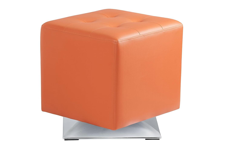 Amazon.com: Sunpan Modern Marco Swivel Ottoman, Orange: Kitchen & Dining