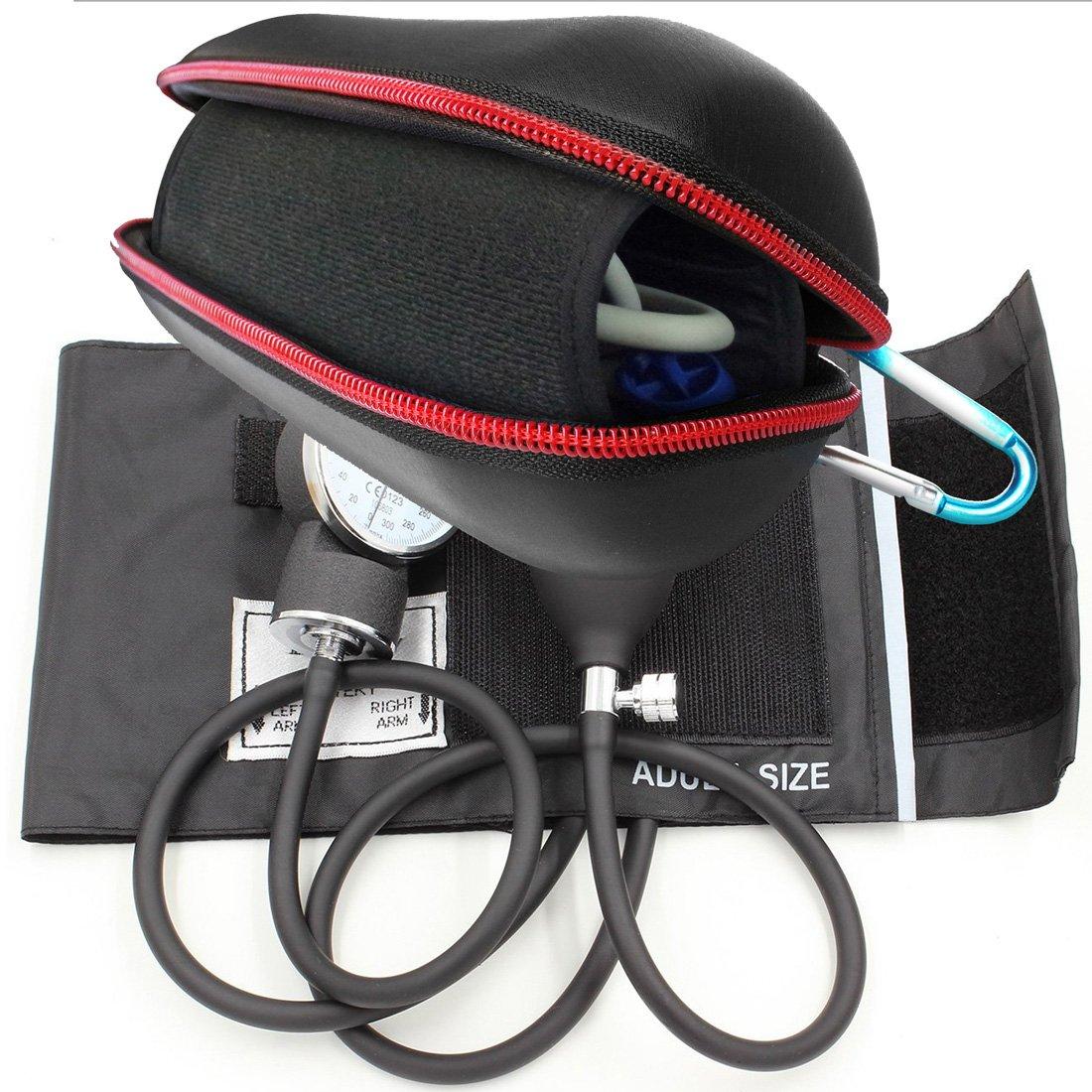 FitSand (TM) viaje cremallera portátil llevar bolsa de carcasa rígida protectora caja para LotFancy Manual - Tensiómetro aneroide (sangre medidor de ...